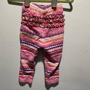 NWOT Pink Old Navy patterned ruffle butt leggings